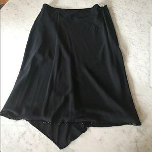 Beaded hem asymmetrical skirt